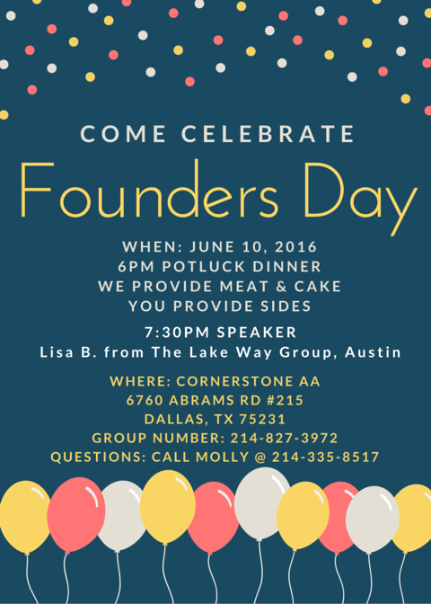 Founders Day Celebration - Dallas Intergroup ...